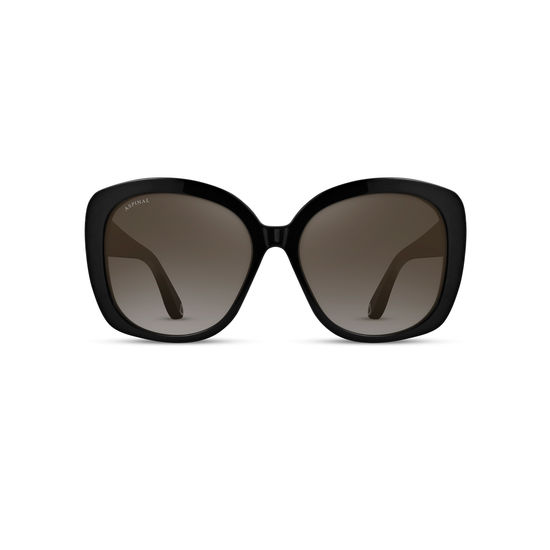 Monaco Sunglasses in Black Acetate from Aspinal of London