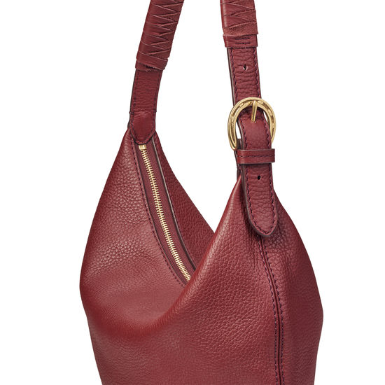 Alice Hobo in Bordeaux Pebble from Aspinal of London