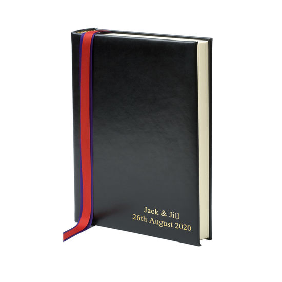 English Bridle Portrait Photo Album in Black from Aspinal of London