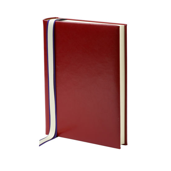 English Bridle Portrait Photo Album in Red with Cream Pages from Aspinal of London