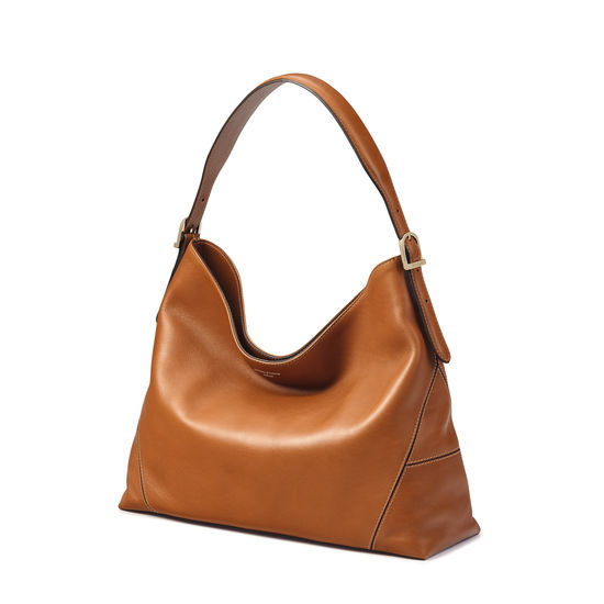Hobo Bag in Smooth Tan from Aspinal of London