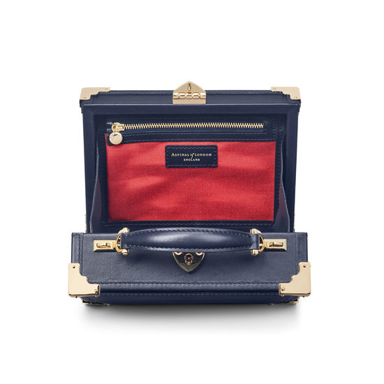 The Brit Trunk in Smooth Red, White & Blue from Aspinal of London