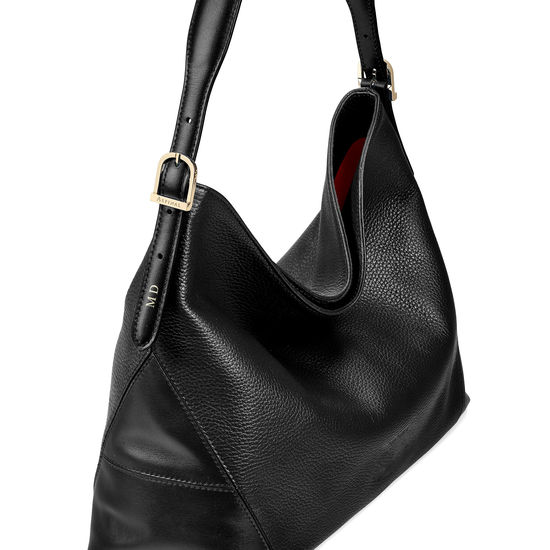 Aspinal Hobo in Black Pebble from Aspinal of London