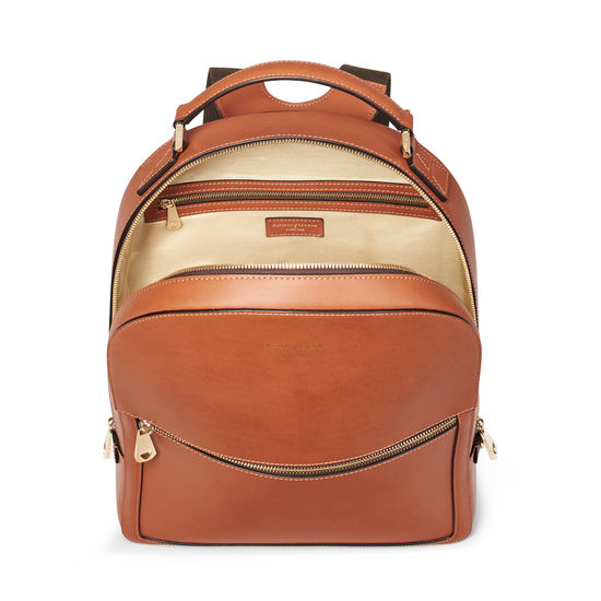 London Backpack in Smooth Tan from Aspinal of London