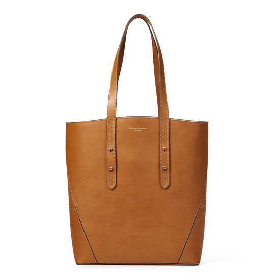 Essential 'A' Tote in Smooth Tan from Aspinal of London