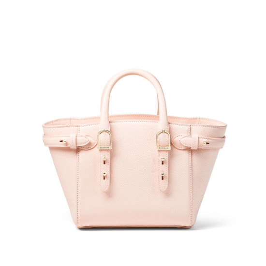 Mini Marylebone Tote in Shell Pink Small Grain Pebble from Aspinal of London