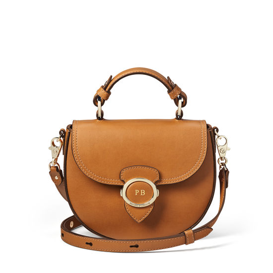 Saddle Bag in Smooth Tan from Aspinal of London
