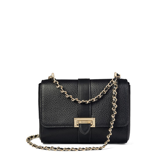 aspinal of london lottie bag black pebble