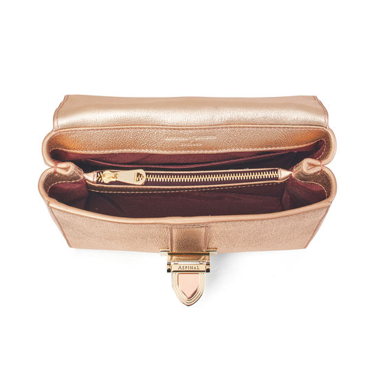 Lottie Bag in Rose Gold Metallic from Aspinal of London