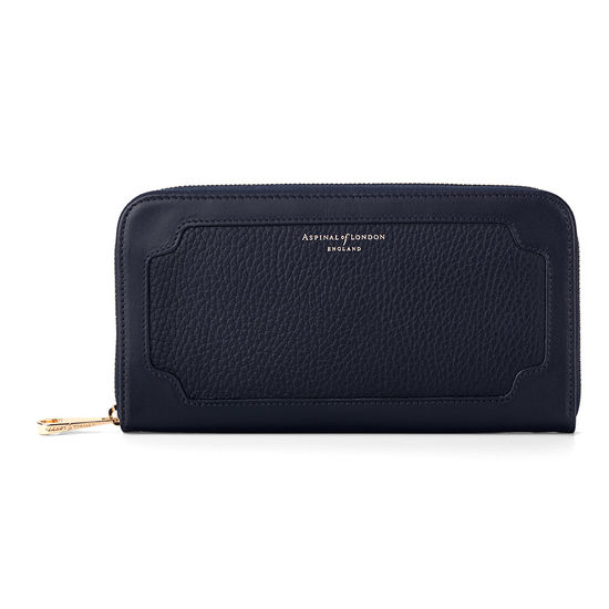 Marylebone Purse in Navy Pebble from Aspinal of London