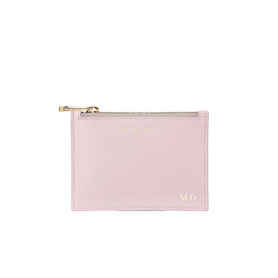 Small Essential Flat Pouch in Smooth Lilac from Aspinal of London