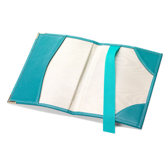 Passport Cover in Smooth Turquoise from Aspinal of London