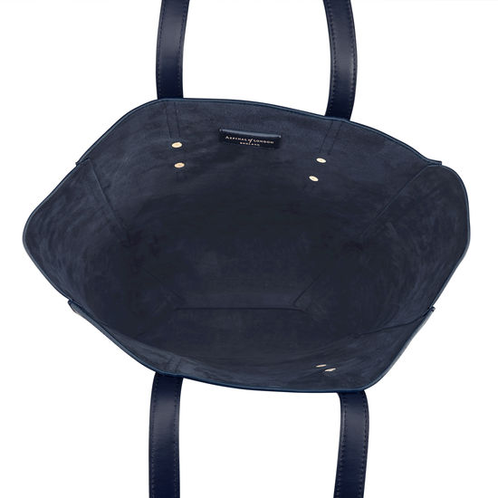 Essential Tote in Navy Pebble from Aspinal of London