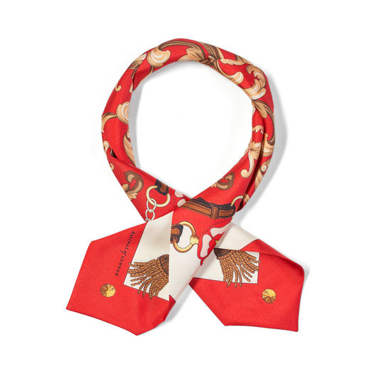 Aspinal Signature Shield Neck Bow in Red from Aspinal of London