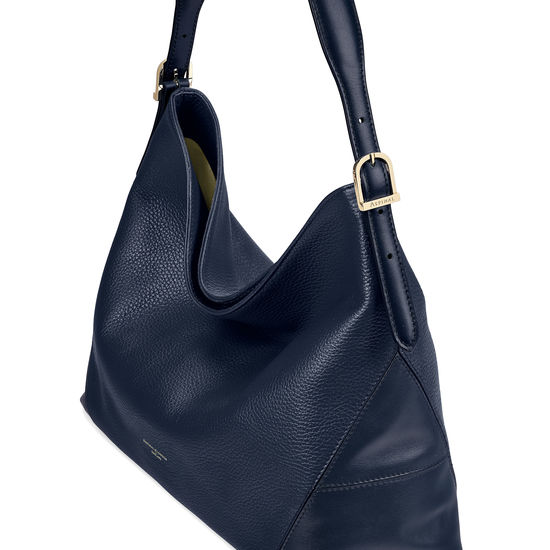 Aspinal Hobo in Navy Pebble from Aspinal of London