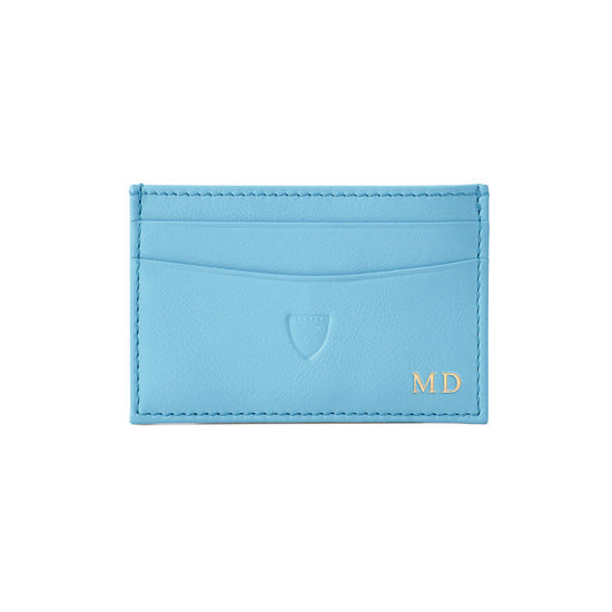 Slim Credit Card Holder in Smooth Bluebird from Aspinal of London
