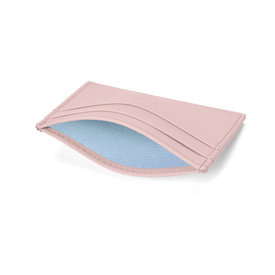 Slim Credit Card Holder in Smooth Peony from Aspinal of London