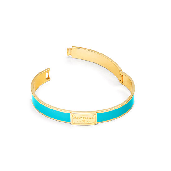 Enamel Bracelet in Aqua from Aspinal of London