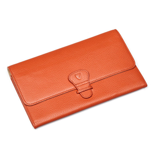 Travel Wallet with Removable Inserts in Marmalade Pebble from Aspinal of London
