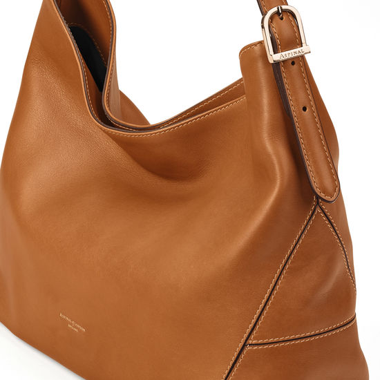 Aspinal Hobo in Smooth Tan from Aspinal of London
