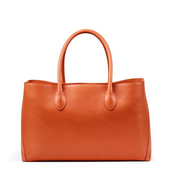 London Tote in Marmalade Pebble from Aspinal of London