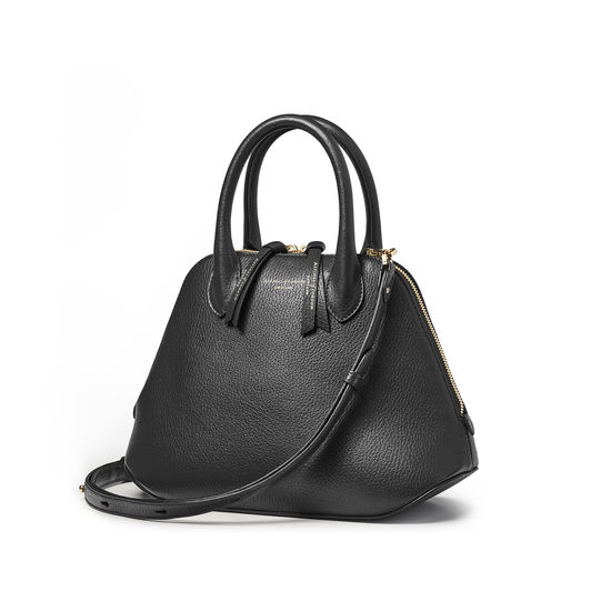 Margot Bag in Black Pebble from Aspinal of London