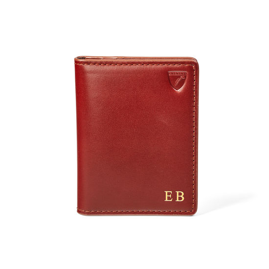 ID & Travel Card Holder in Smooth Cognac from Aspinal of London