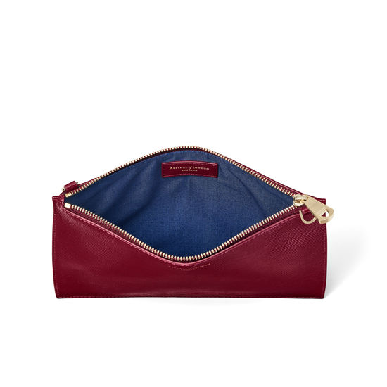 Soho Bag in Bordeaux Silk Lizard from Aspinal of London