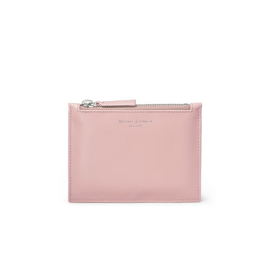 Small Essential Flat Pouch in Smooth Peony from Aspinal of London