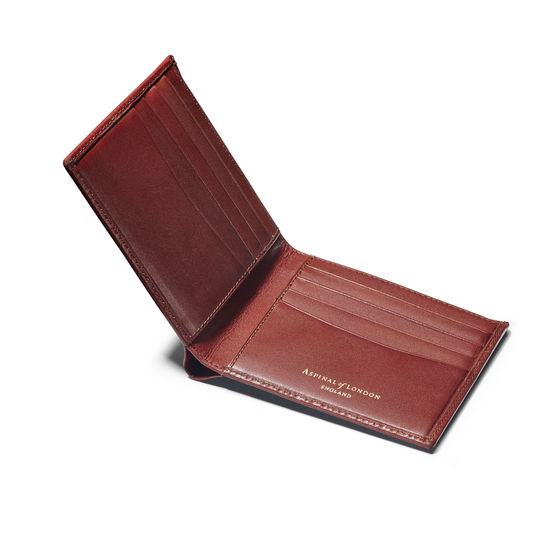 8 Card Billfold Wallet in Smooth Cognac from Aspinal of London