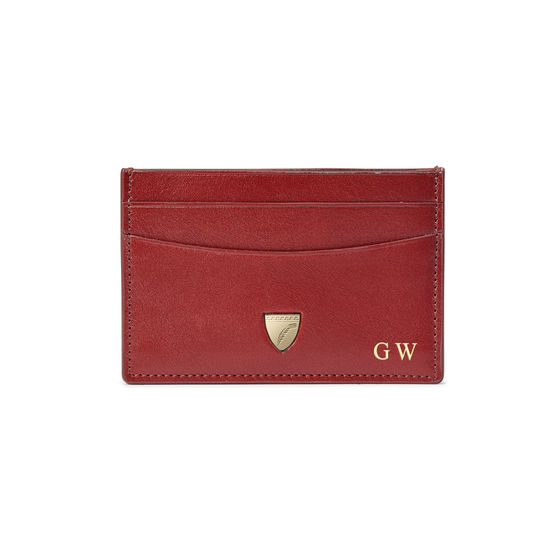 Slim Credit Card Holder in Smooth Cognac from Aspinal of London