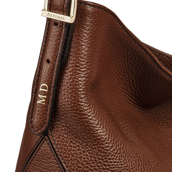 Aspinal Hobo in Chestnut Pebble from Aspinal of London