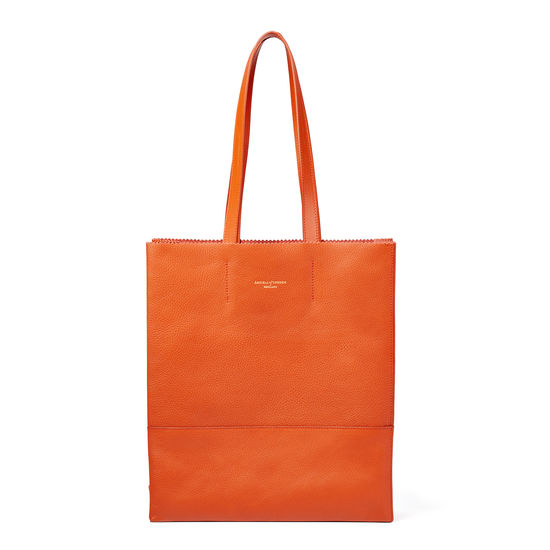 Sustainable Origami Tote in Marmalade Pebble from Aspinal of London