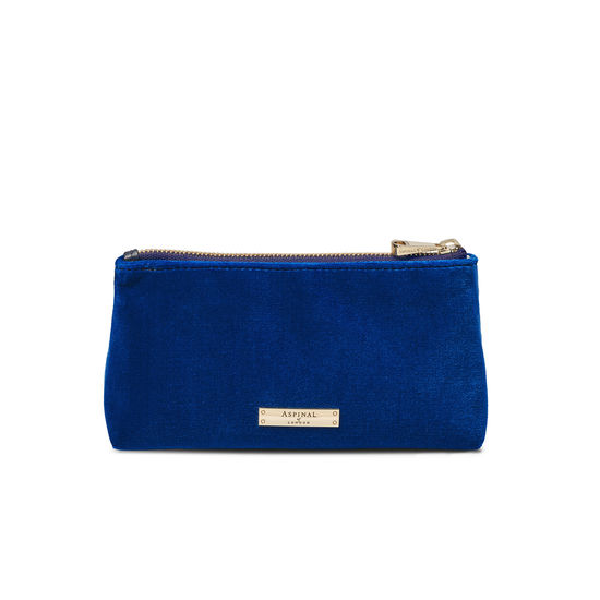 Trinket Pouch in Royal Blue Velvet from Aspinal of London