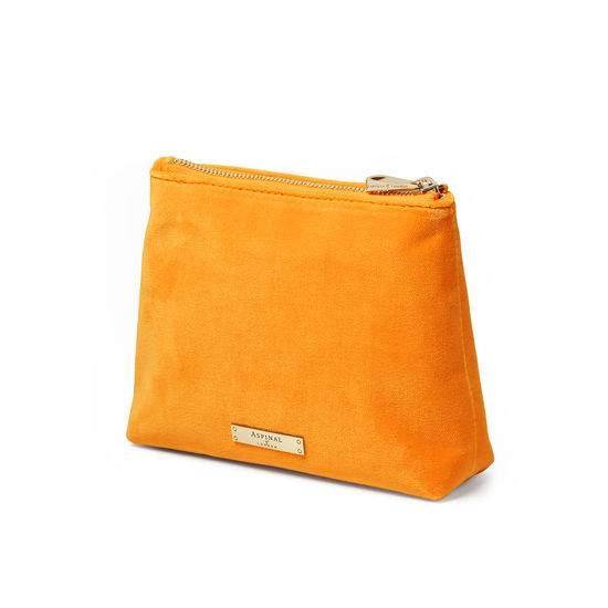 Trunk Pouch in Mandarin Velvet from Aspinal of London