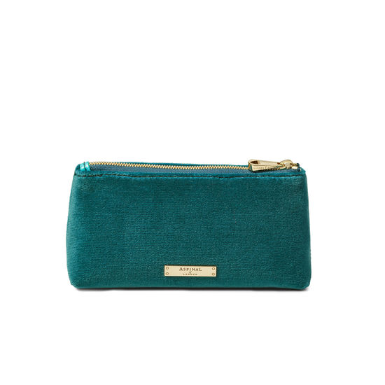 Trinket Pouch in Aqua Velvet from Aspinal of London