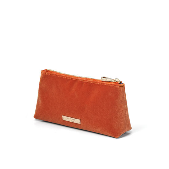 Trinket Pouch in Marmalade Velvet from Aspinal of London