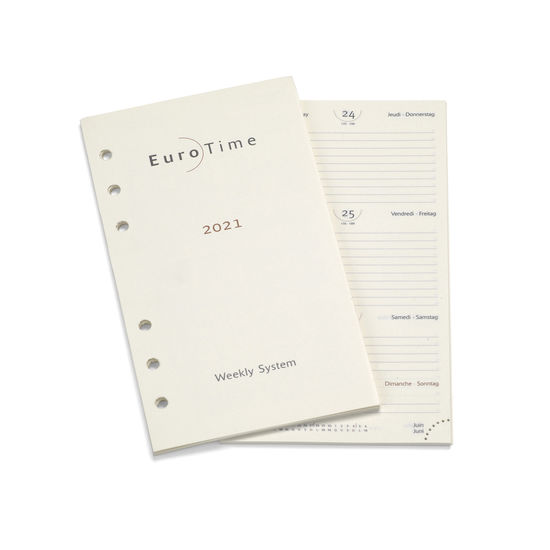 2021 Diary Insert for Compact Personal Organiser from Aspinal of London