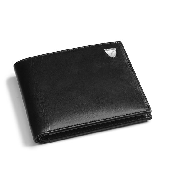 Billfold Coin Wallet in Smooth Black from Aspinal of London