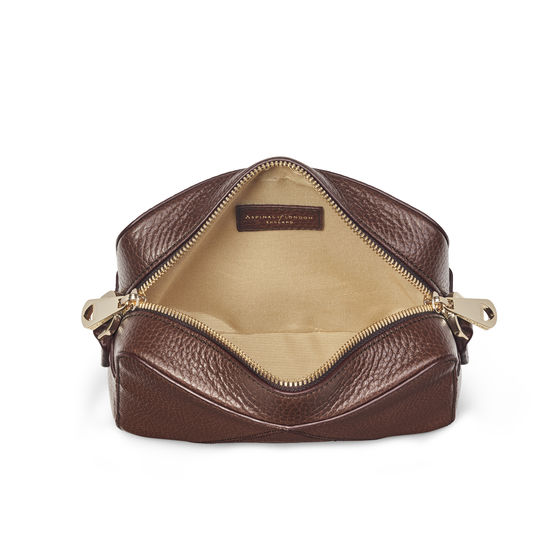 Camera 'A' Bag in Chestnut Pebble from Aspinal of London