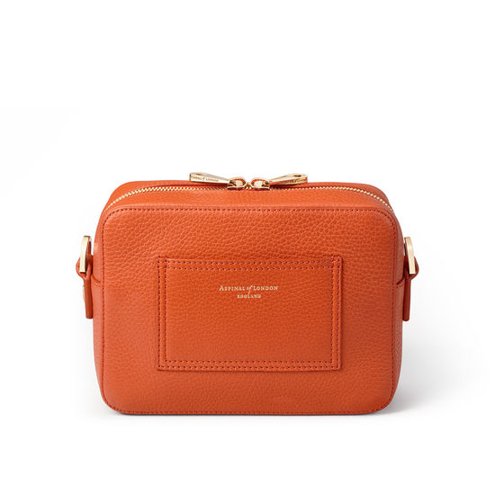 Camera 'A' Bag in Marmalade Pebble from Aspinal of London