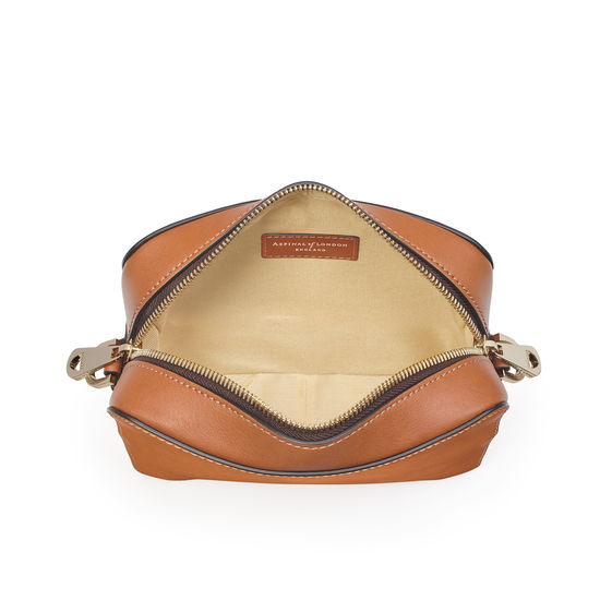 Camera 'A' Bag in Smooth Tan from Aspinal of London