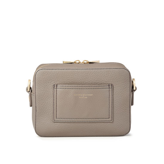 Camera 'A' Bag in Warm Grey Pebble from Aspinal of London