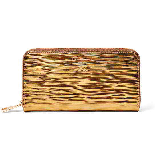 Continental Purse in Zoloto Metallic from Aspinal of London