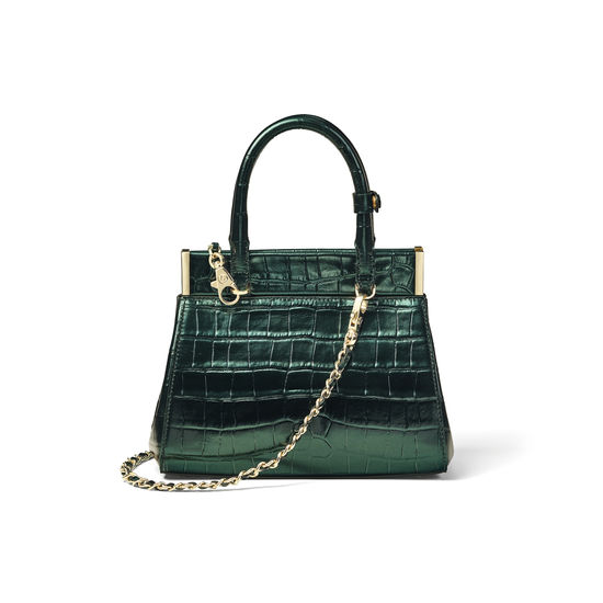 Grace Mini Bag in Dragonfly Croc Print from Aspinal of London