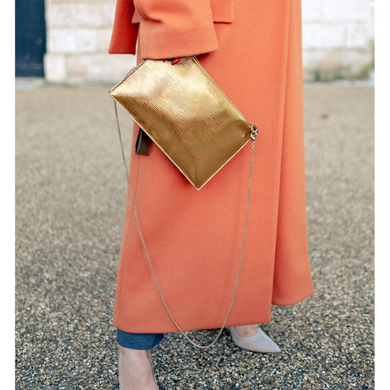 Soho Bag in Zoloto Metallic from Aspinal of London