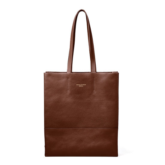 Sustainable Origami Tote in Chestnut Pebble from Aspinal of London