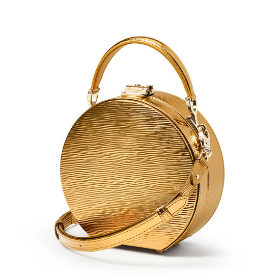 Hat Box in Zoloto Metallic from Aspinal of London