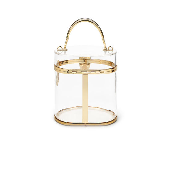 Pandora Bag in Transparent Plexiglass from Aspinal of London