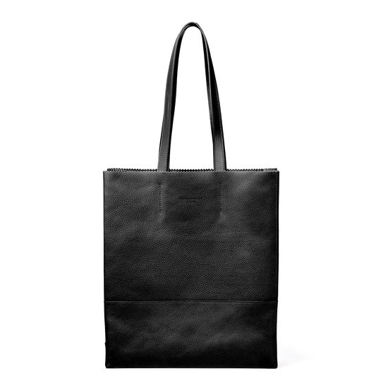 Sustainable Origami Tote in Black Pebble from Aspinal of London